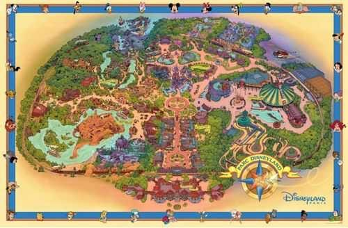 "Neue Disneyland Paris ""Fun Map"""