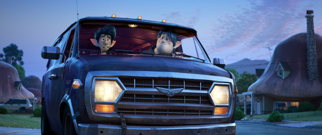 "OH BROTHERS – In Disney and Pixar's ""Onward,"" two teenage elf brothers embark on an extraordinary quest in a van named Guinevere to discover if there is still a little magic left in the world. Featuring Tom Holland as the voice of Ian Lightfoot, and Chris Pratt as the voice of Ian's older brother, Barley, ""Onward"" opens in U.S. theaters on March 6, 2020. ©2019 Disney/Pixar. All Rights Reserved."