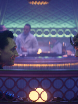 (L-R): Loki (TomHiddleston) and Sophia Di Martino in Marvel Studios' LOKI, exclusively on Disney+. Photo courtesy of Marvel Studios. ©Marvel Studios 2021. All Rights Reserved.