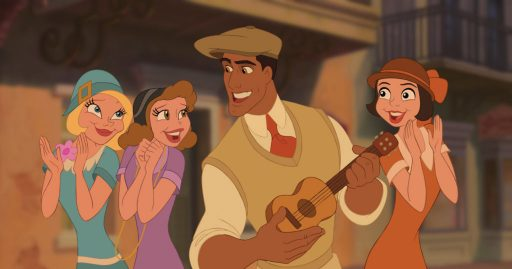THE PRINCESS AND THE FROG Naveen (center) ©Disney Enterprises, Inc. All Rights Reserved.