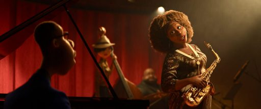 """In Disney and Pixar's """"Soul,"""" a middle-school band teacher named Joe Gardner gets the chance of a lifetime to play the piano in a jazz quartet headed by the great Dorothea Williams. Featuring Jamie Foxx as the voice of Joe Gardner, and Angela Bassett as the voice of Dorothea, """"Soul"""" opens in U.S. theaters on June 19, 2020.. © 2020 Disney/Pixar. All Rights Reserved."""