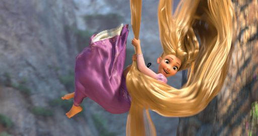 Rapunzel  When the kingdom?s most wanted?and most charming?bandit Flynn Rider (voice of Zachary Levi) is taken hostage by Rapunzel (voice of Mandy Moore), a feisty teen with 70 feet of golden hair who?s looking for her ticket out of the tower where she?s been locked away for years, the unlikely duo sets off on a hilarious, hair-raising escapade filled with adventure, heart, humor and hair?lots of hair.  In U.S. theaters Nov. 24, 2010.