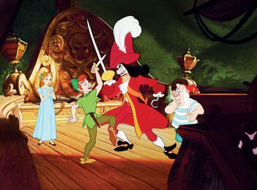 Peter Pan battles Captain Hook